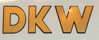 DKW Hummel Super Tankaufkleber