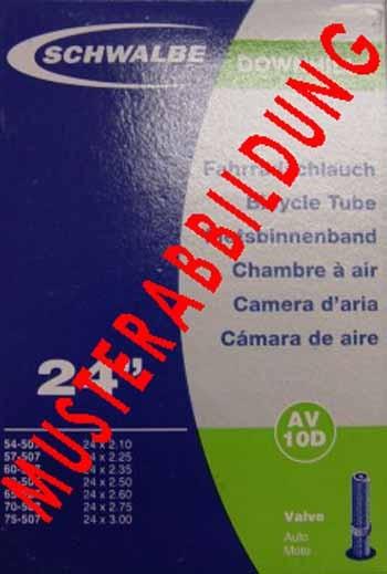 """Luft-Schlauch mit Autoventil 23""""x2.00 Zoll"""