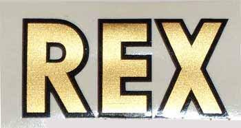 REX Sportmoped Kettenkastenaufkleber
