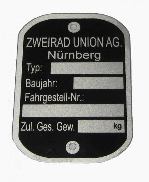 Zweirad-Union Mofa/Moped Typschild