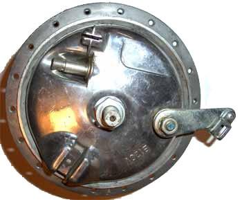 Komplette Vorderradnabe B120V für Zweirad-Union Mopeds Typ 136/166/139/159