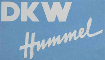 DKW Hummel Rahmentankaufkleber